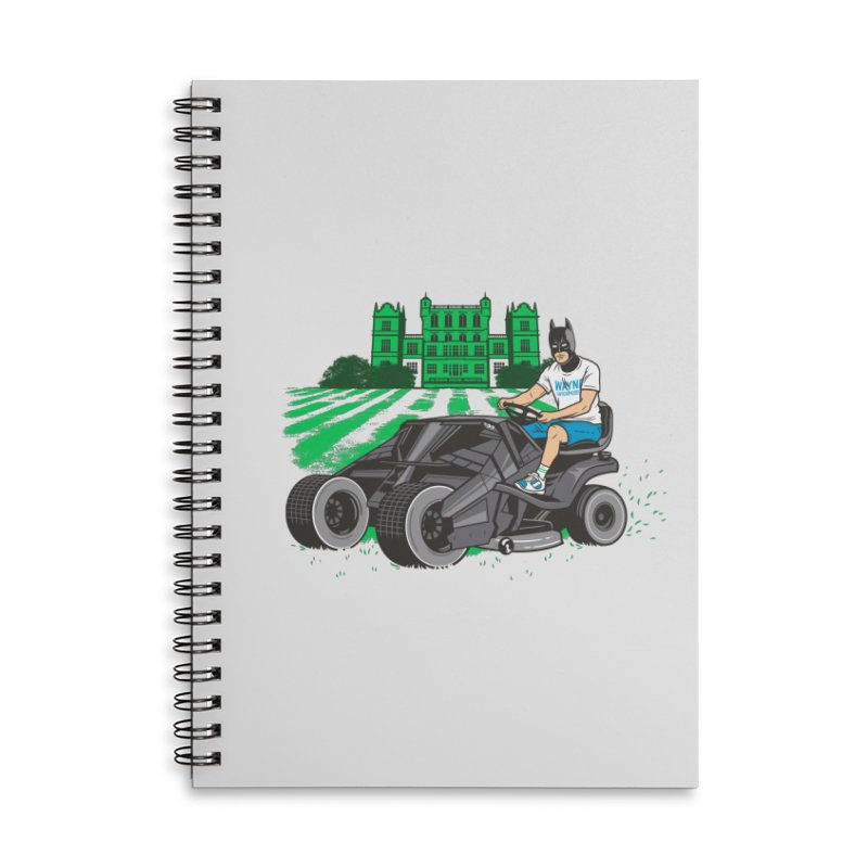 The Bat-mow-bile Accessories Lined Spiral Notebook by Ben Douglass