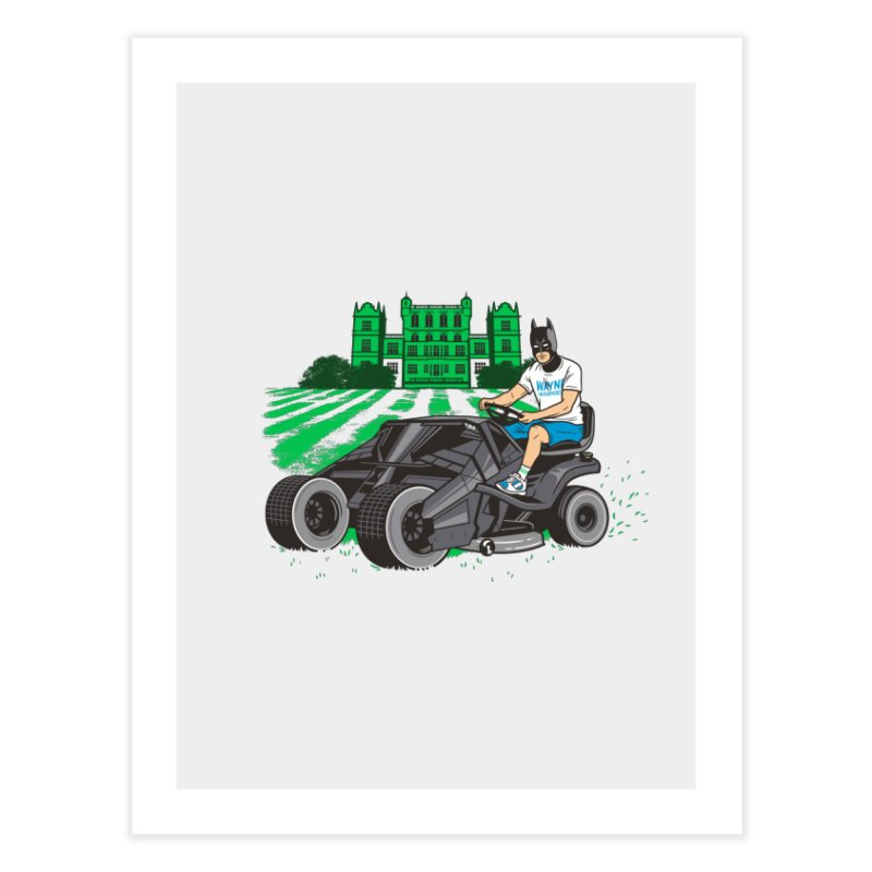 The Bat-mow-bile Home Fine Art Print by Ben Douglass