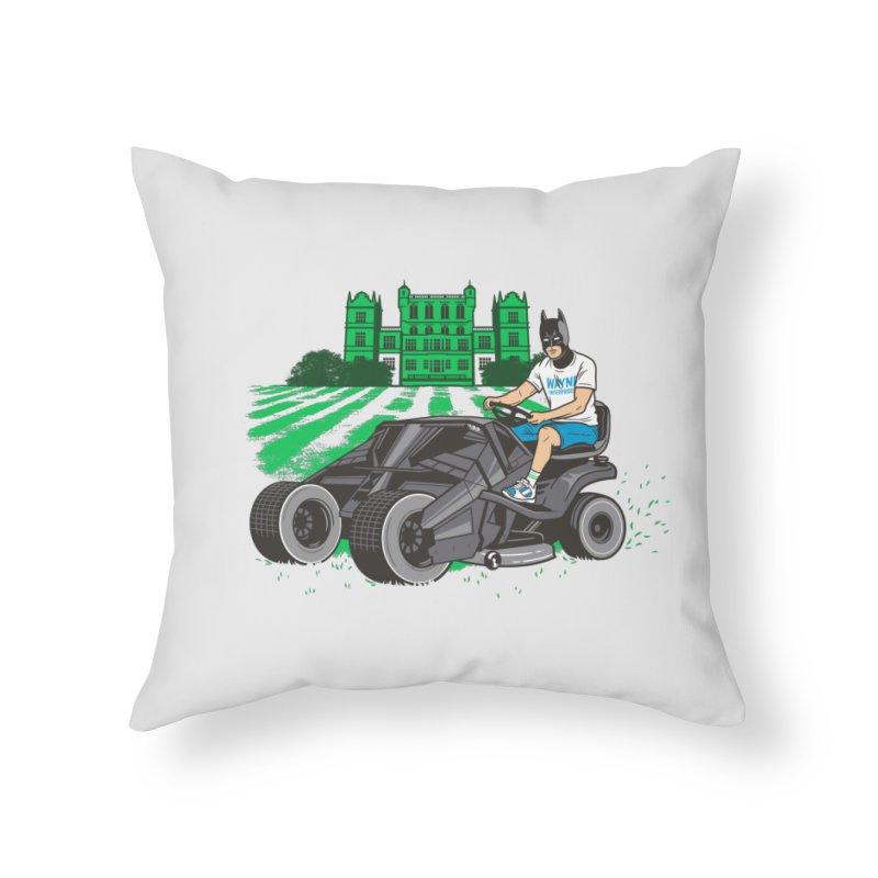 The Bat-mow-bile Home Throw Pillow by Ben Douglass