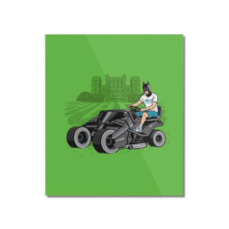 The Bat-mow-bile Home Mounted Acrylic Print by Ben Douglass
