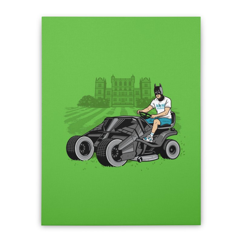 The Bat-mow-bile Home Stretched Canvas by Ben Douglass
