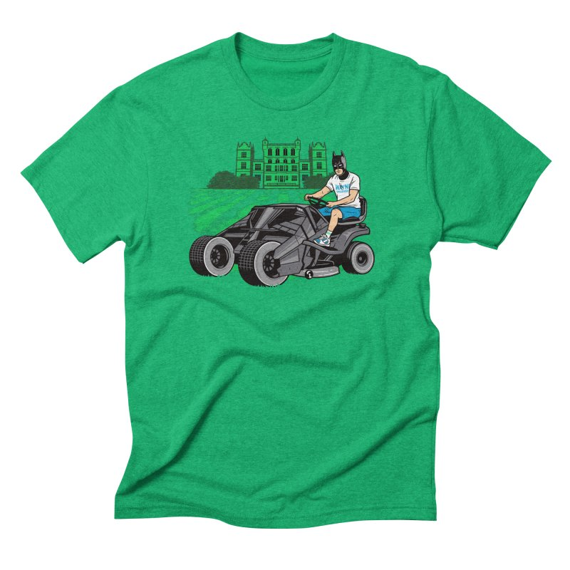 The Bat-mow-bile Men's Triblend T-Shirt by Ben Douglass
