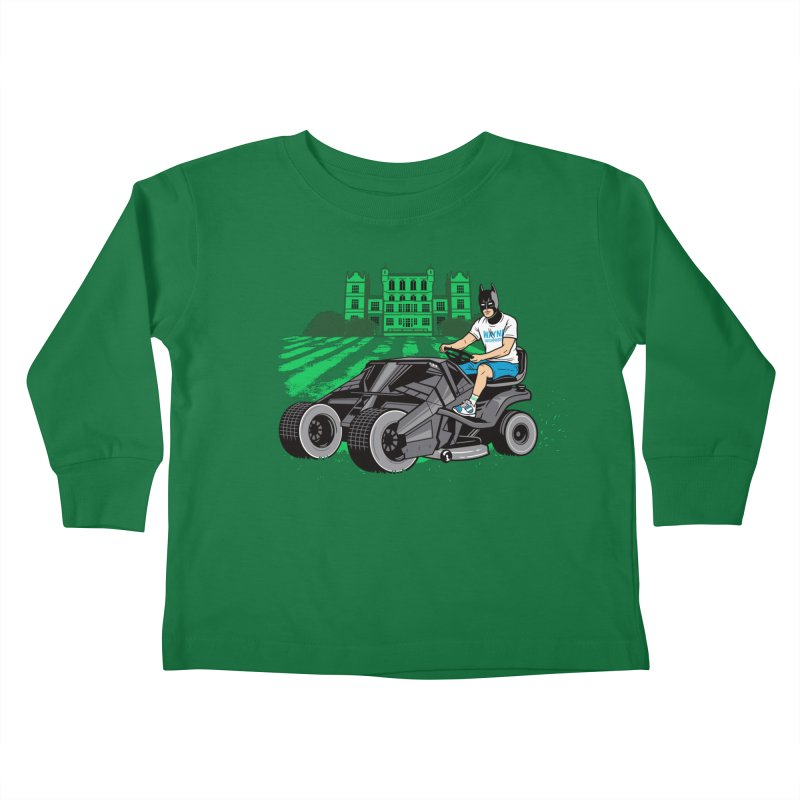 The Bat-mow-bile Kids Toddler Longsleeve T-Shirt by Ben Douglass