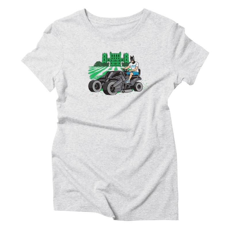 The Bat-mow-bile Women's Triblend T-Shirt by Ben Douglass