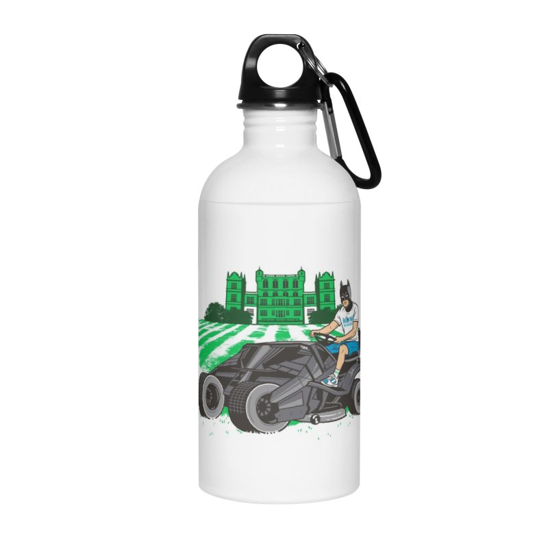 The Bat-mow-bile Accessories Water Bottle by Ben Douglass