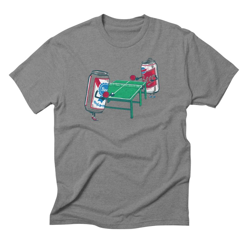 Beer Pong Men's Triblend T-Shirt by Ben Douglass