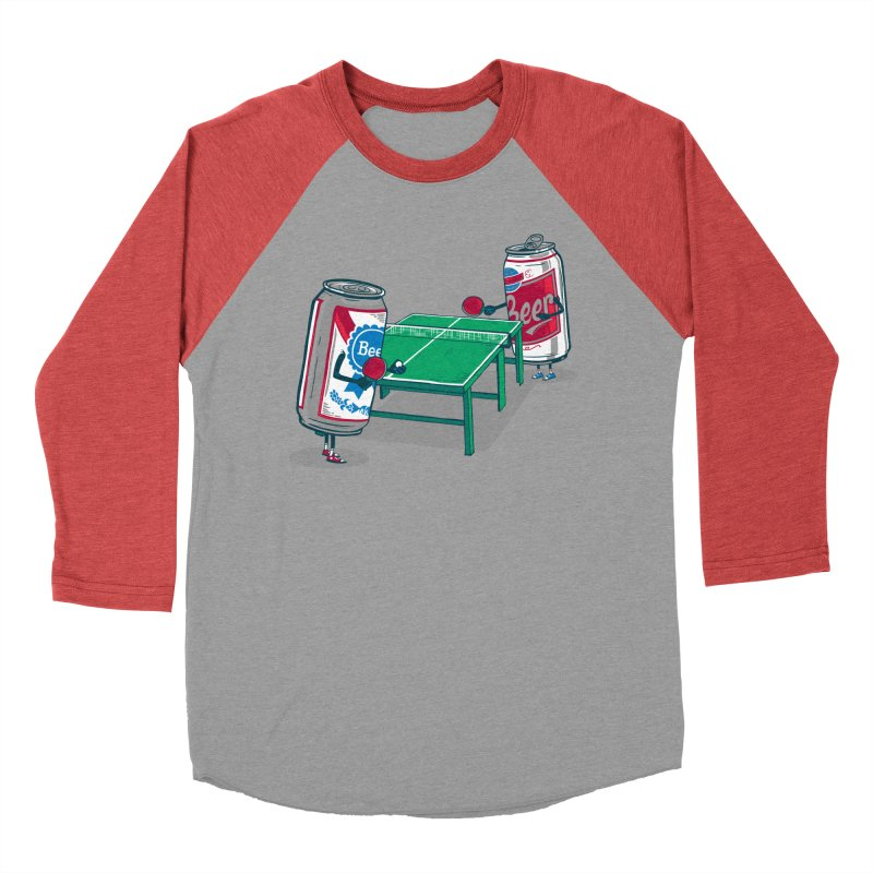 Beer Pong Men's Baseball Triblend T-Shirt by Ben Douglass