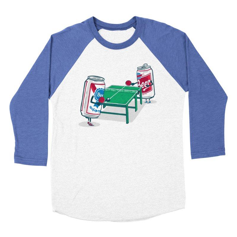 Beer Pong Men's Baseball Triblend T-Shirt by Ben Douglass