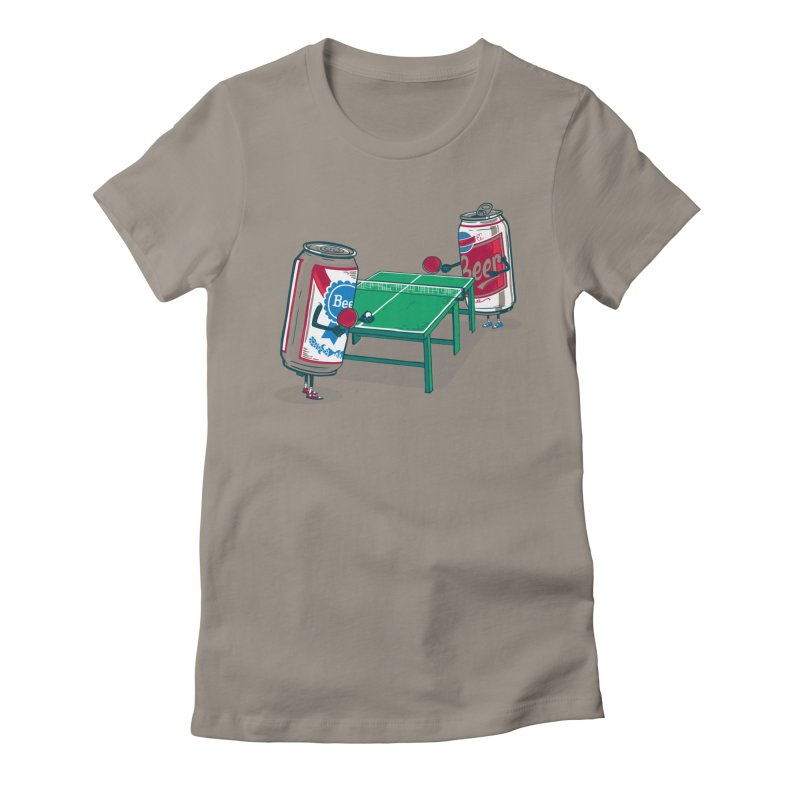 Beer Pong Women's Fitted T-Shirt by Ben Douglass