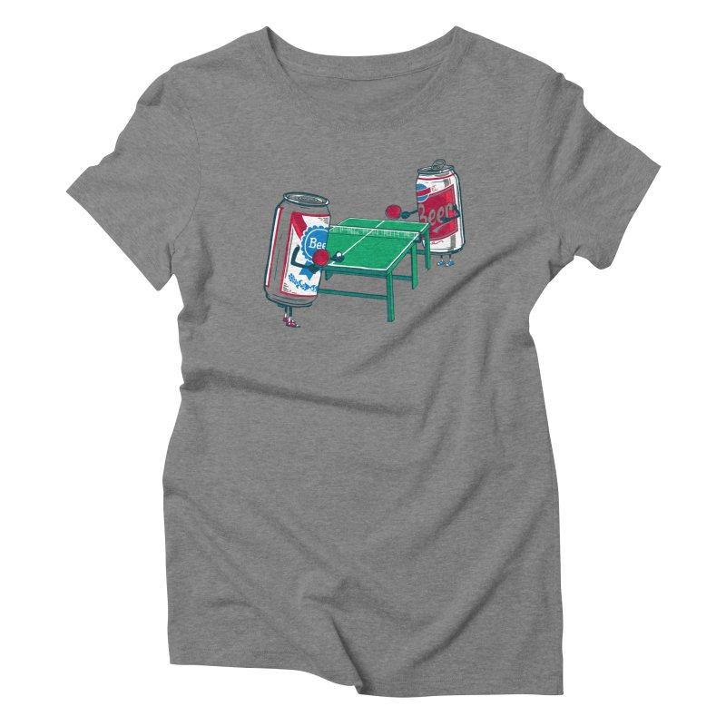Beer Pong Women's Triblend T-Shirt by Ben Douglass