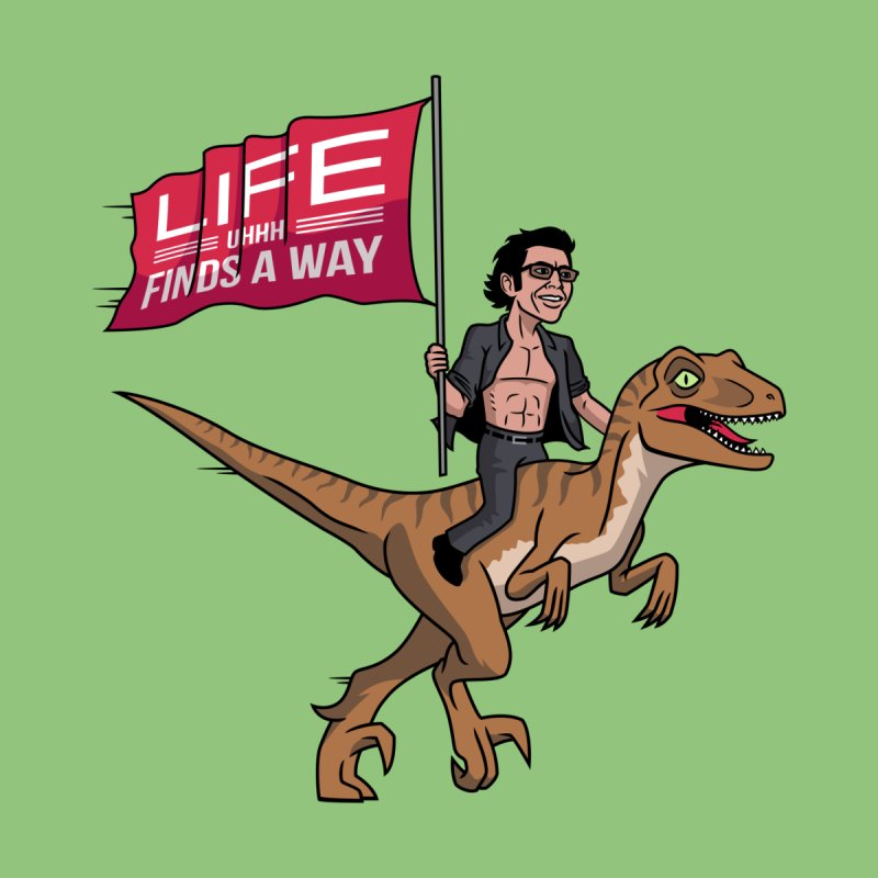 Life (UHHH) Finds a Way Home Throw Pillow by Ben Douglass