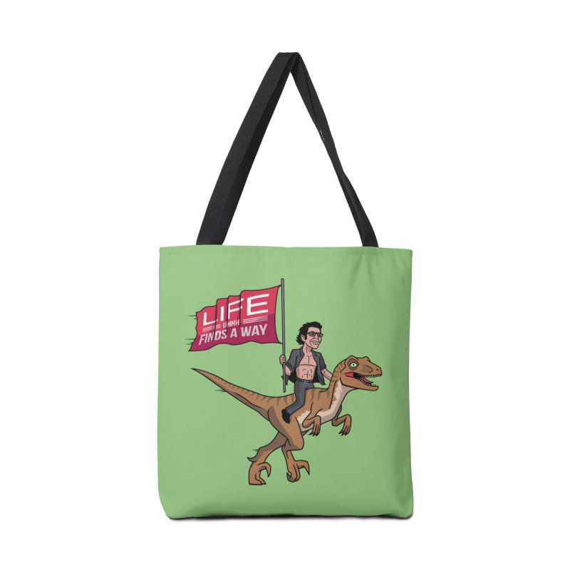 Life (UHHH) Finds a Way Accessories Bag by Ben Douglass