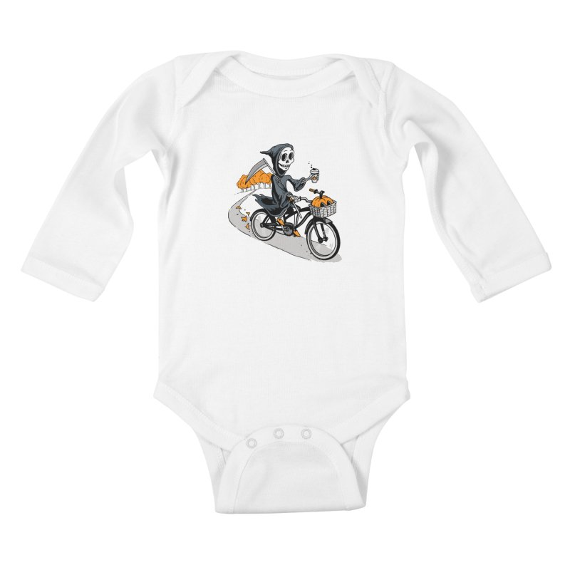 Fall Reaper Kids Baby Longsleeve Bodysuit by Ben Douglass