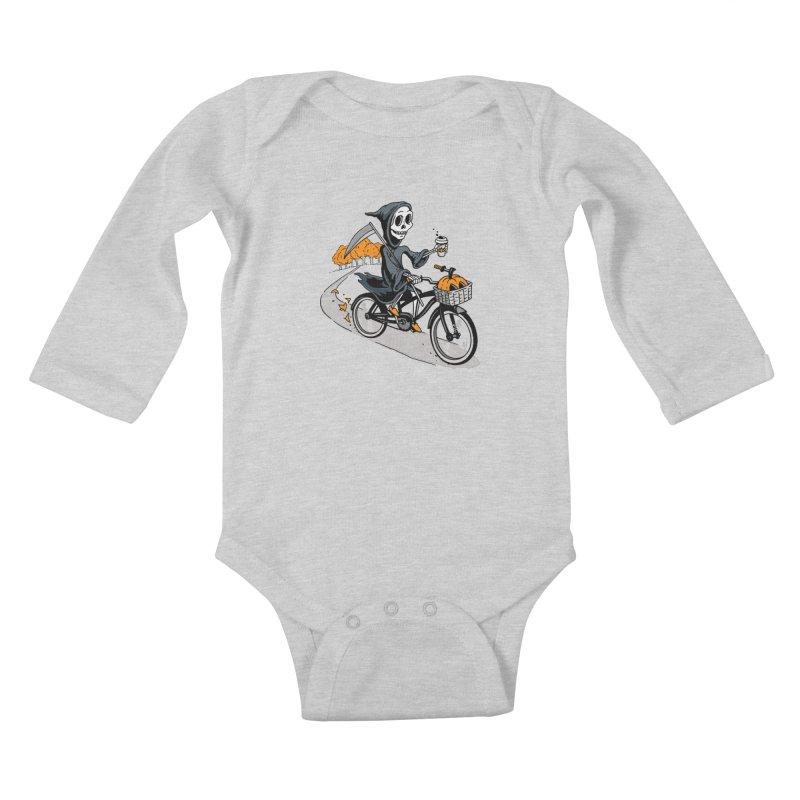 Fall Reaper Kids Baby Longsleeve Bodysuit by Ben Douglass
