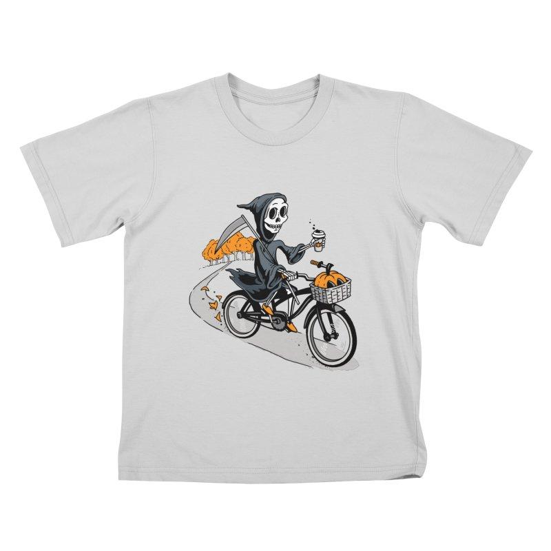 Fall Reaper Kids T-Shirt by Ben Douglass