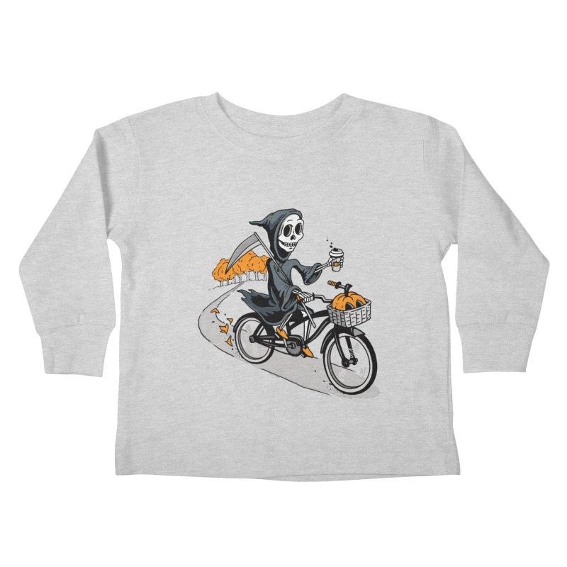 Fall Reaper Kids Toddler Longsleeve T-Shirt by Ben Douglass
