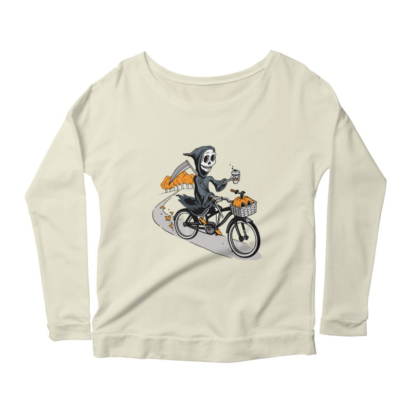 Fall Reaper Women's Scoop Neck Longsleeve T-Shirt by Ben Douglass