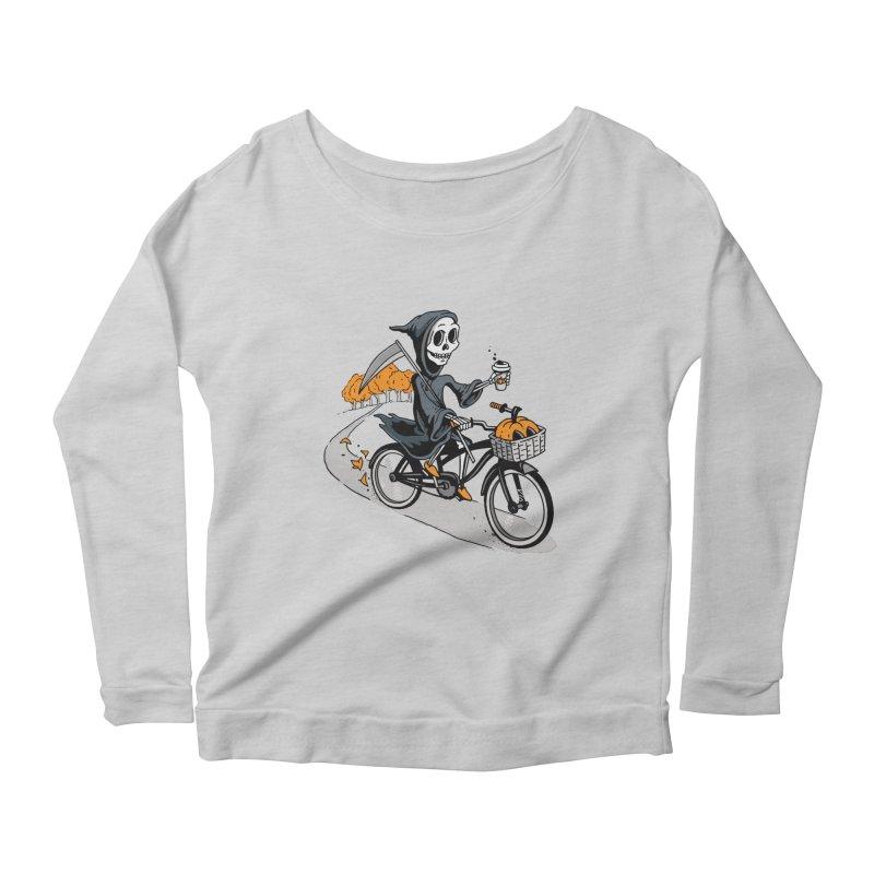Fall Reaper Women's Scoop Neck Longsleeve T-Shirt by Ben Douglass