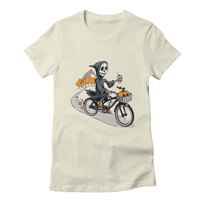 Fall Reaper Women's Fitted T-Shirt by Ben Douglass