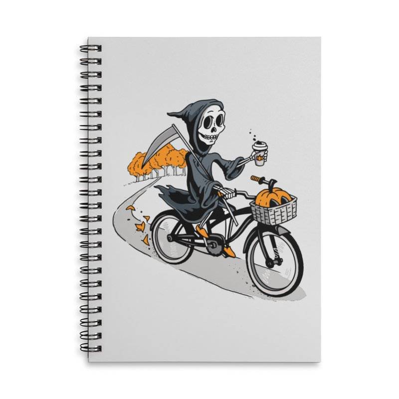 Fall Reaper Accessories Lined Spiral Notebook by Ben Douglass