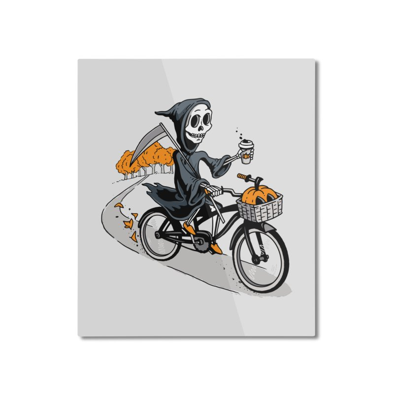 Fall Reaper Home Mounted Aluminum Print by Ben Douglass