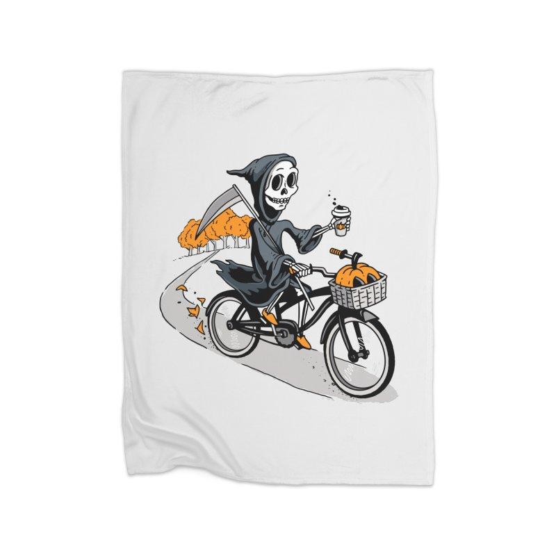 Fall Reaper Home Fleece Blanket Blanket by Ben Douglass