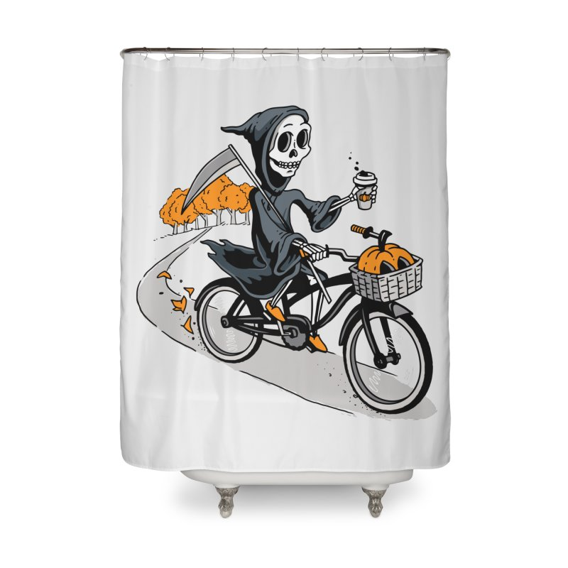 Fall Reaper Home Shower Curtain by Ben Douglass