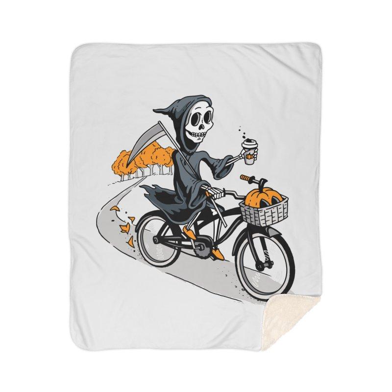 Fall Reaper Home Sherpa Blanket Blanket by Ben Douglass
