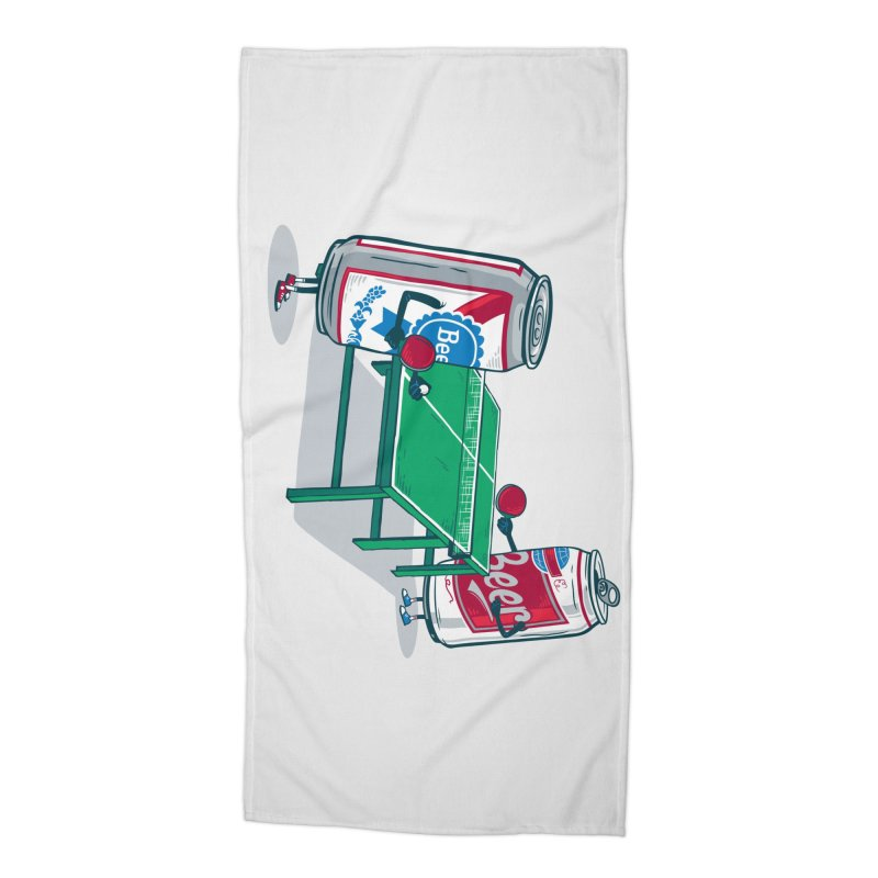 Beer Pong Accessories Beach Towel by Ben Douglass