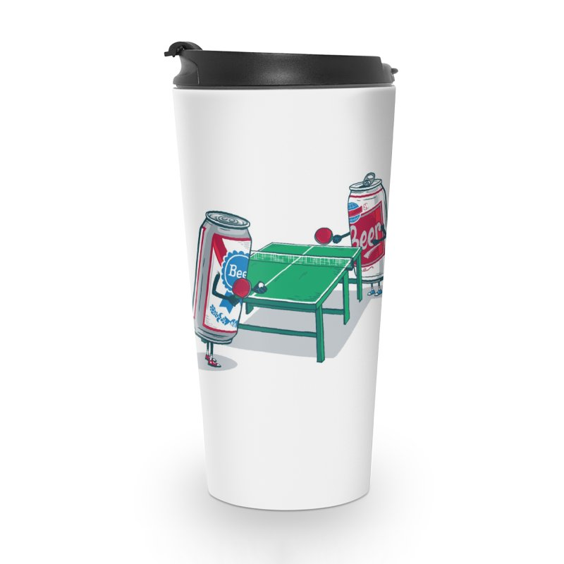 Beer Pong Accessories Travel Mug by Ben Douglass