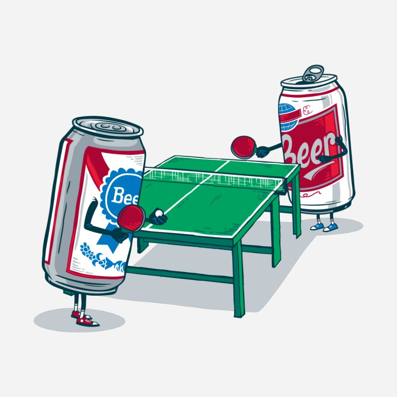 Beer Pong Accessories Sticker by Ben Douglass