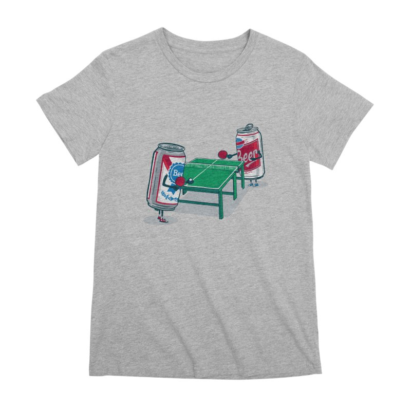 Beer Pong Women's Premium T-Shirt by Ben Douglass