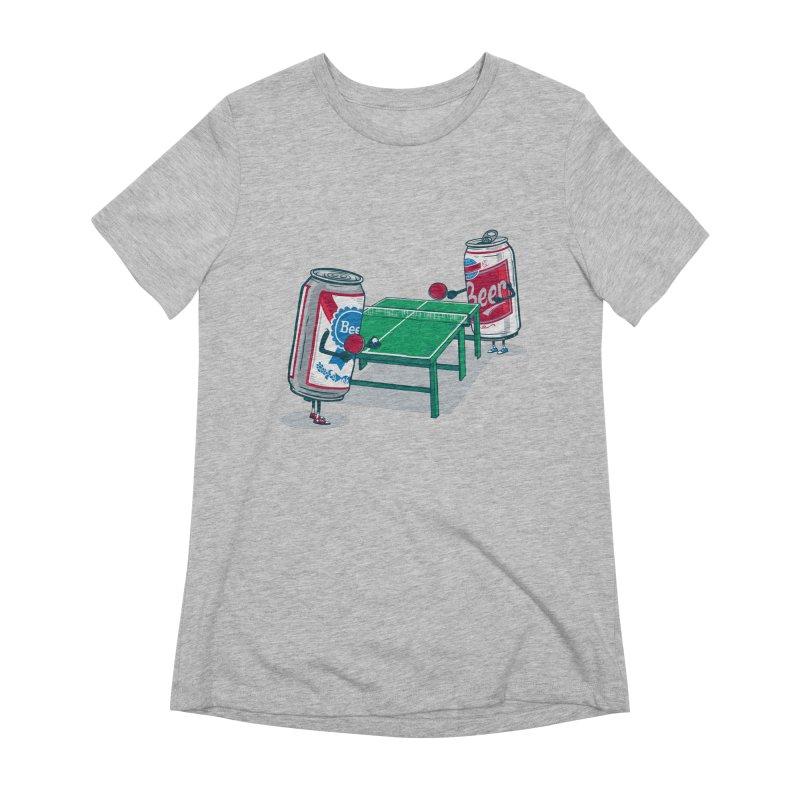 Beer Pong Women's Extra Soft T-Shirt by Ben Douglass