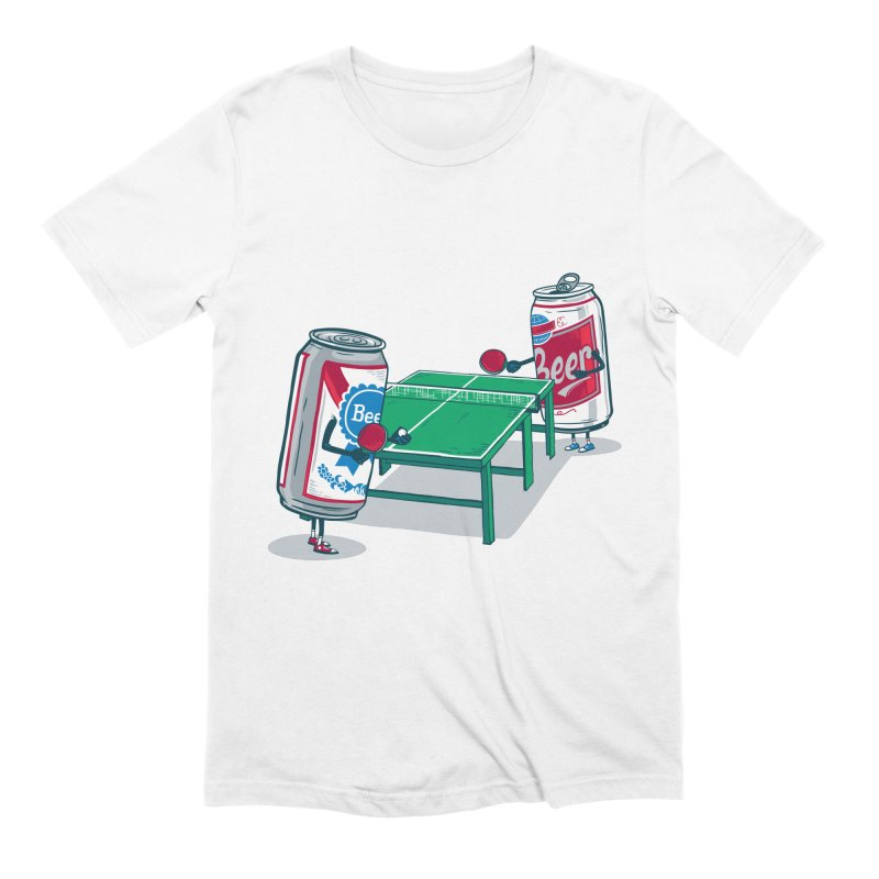 Beer Pong Men's Extra Soft T-Shirt by Ben Douglass