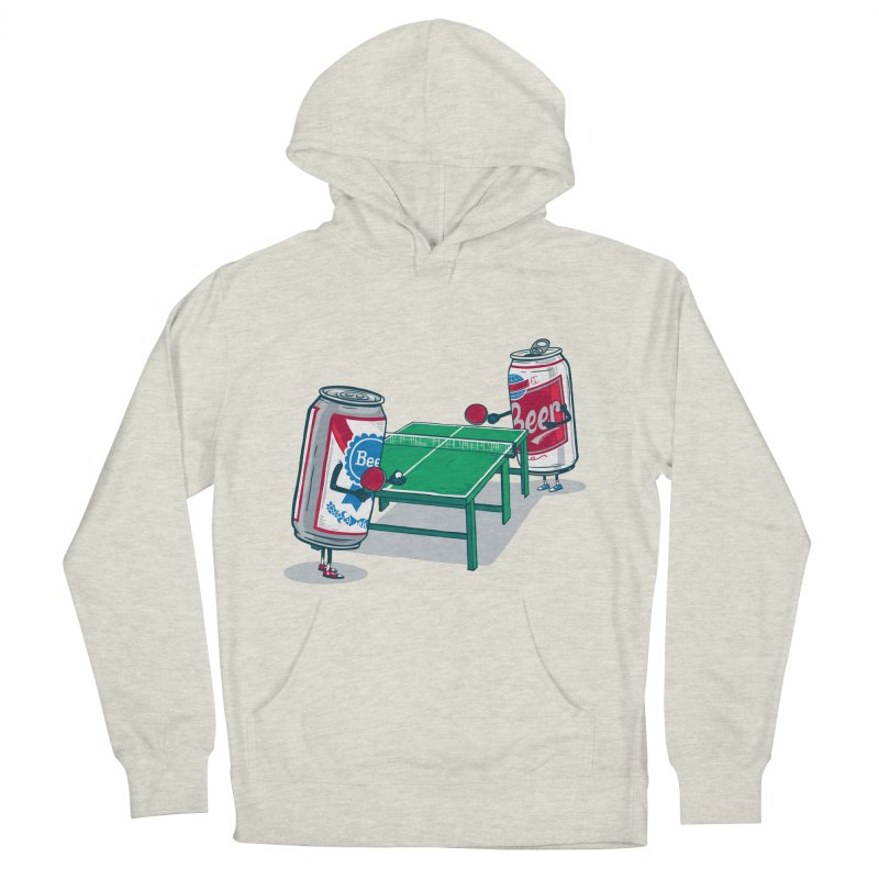 Beer Pong Men's French Terry Pullover Hoody by Ben Douglass