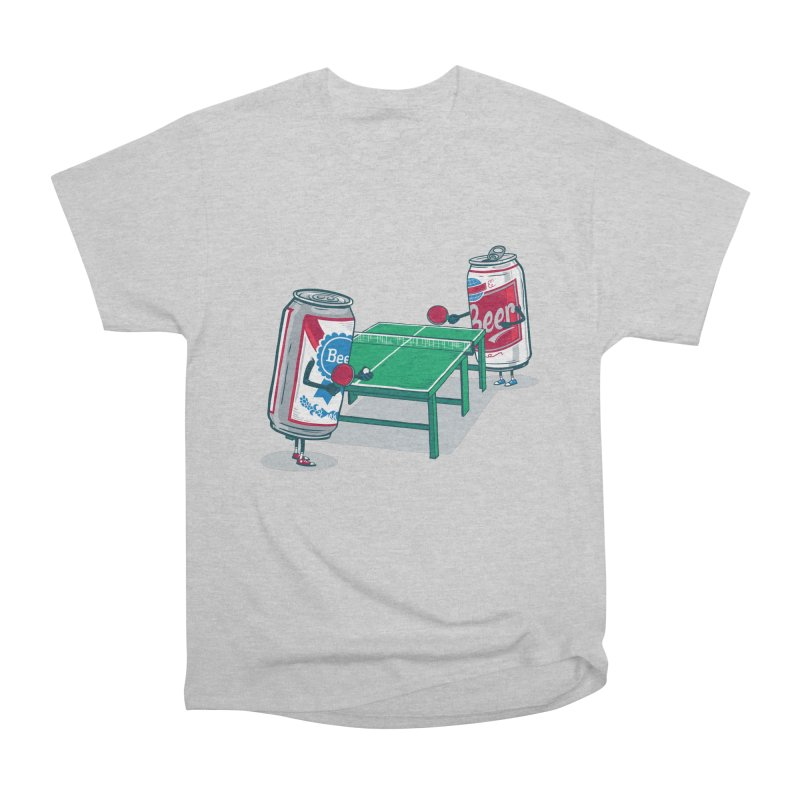 Beer Pong Women's Heavyweight Unisex T-Shirt by Ben Douglass