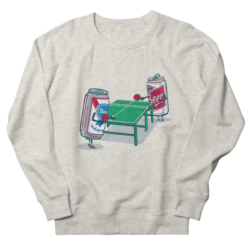 Beer Pong Men's French Terry Sweatshirt by Ben Douglass