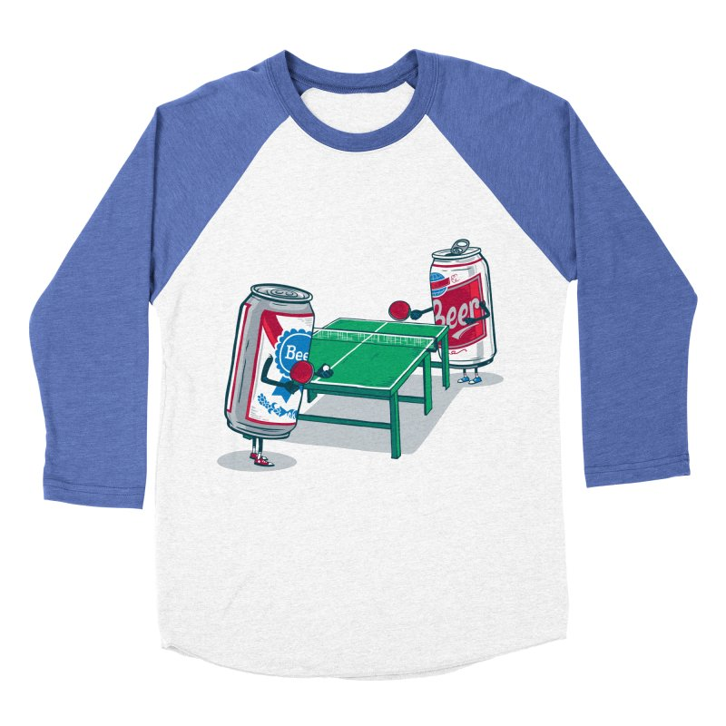 Beer Pong Men's Baseball Triblend Longsleeve T-Shirt by Ben Douglass