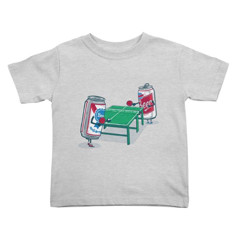 Beer Pong Kids Toddler T-Shirt by Ben Douglass