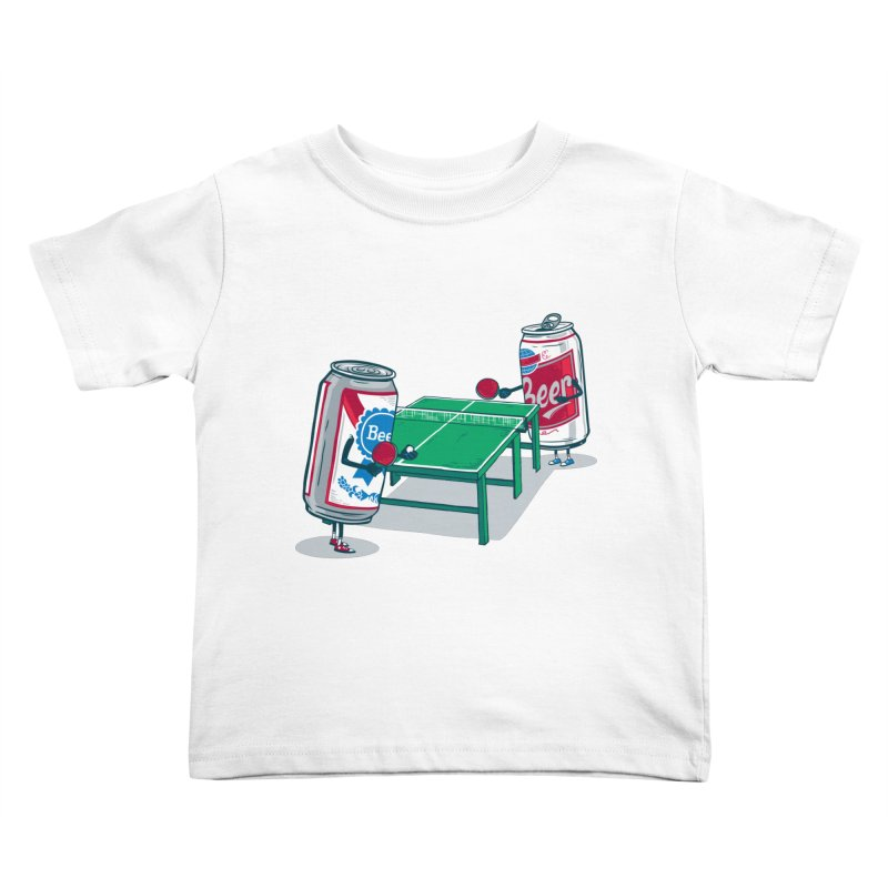 Beer Pong Kids Toddler T-Shirt by Ben Douglass