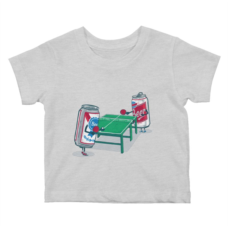 Beer Pong Kids Baby T-Shirt by Ben Douglass