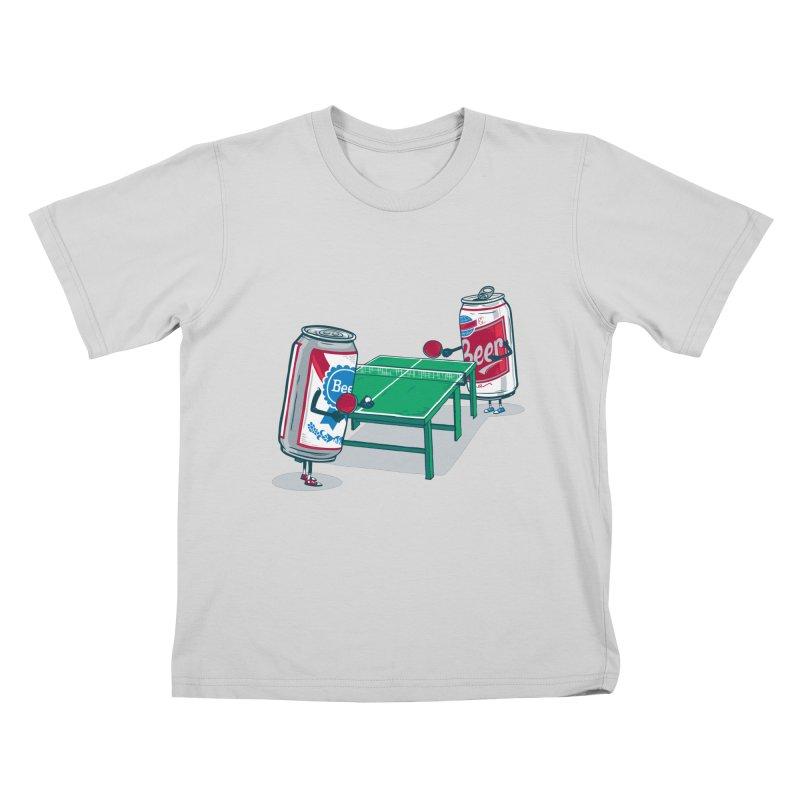 Beer Pong Kids T-Shirt by Ben Douglass