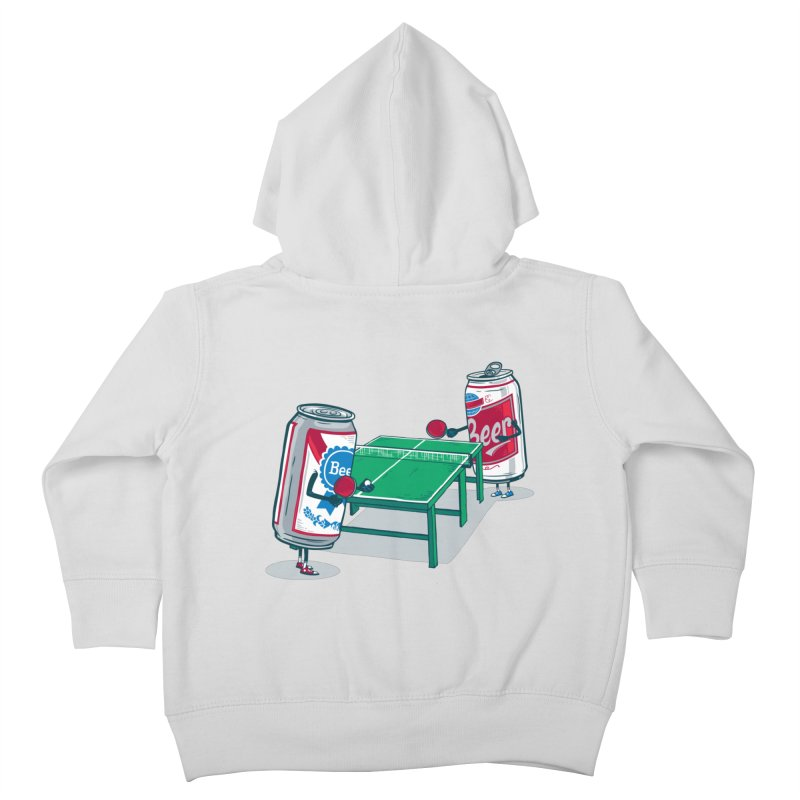 Beer Pong Kids Toddler Zip-Up Hoody by Ben Douglass