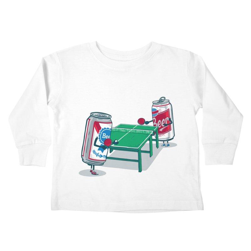 Beer Pong Kids Toddler Longsleeve T-Shirt by Ben Douglass