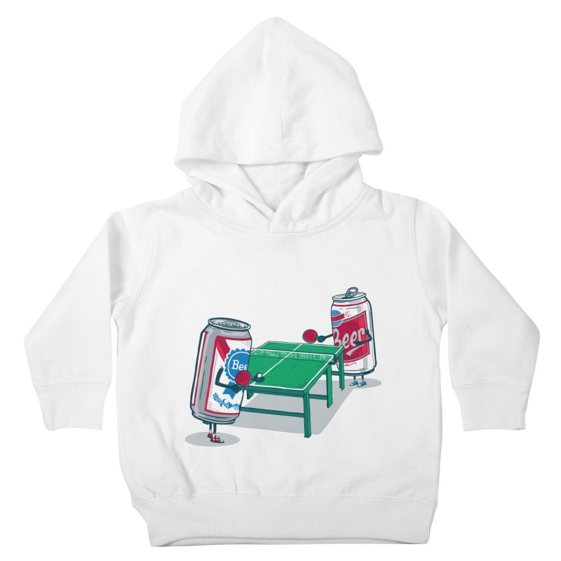 Beer Pong Kids Toddler Pullover Hoody by Ben Douglass