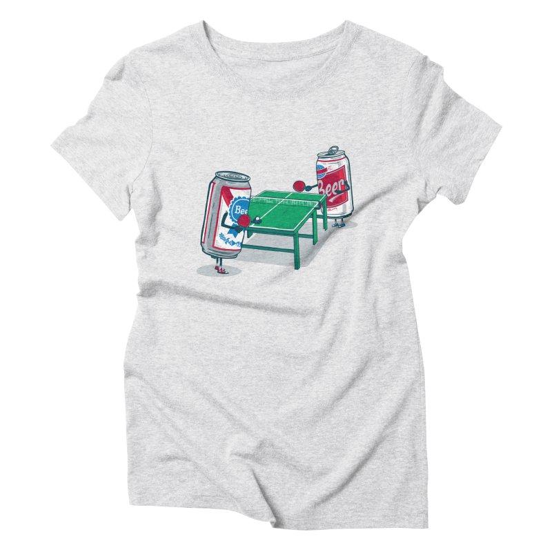 Beer Pong Women's T-Shirt by Ben Douglass