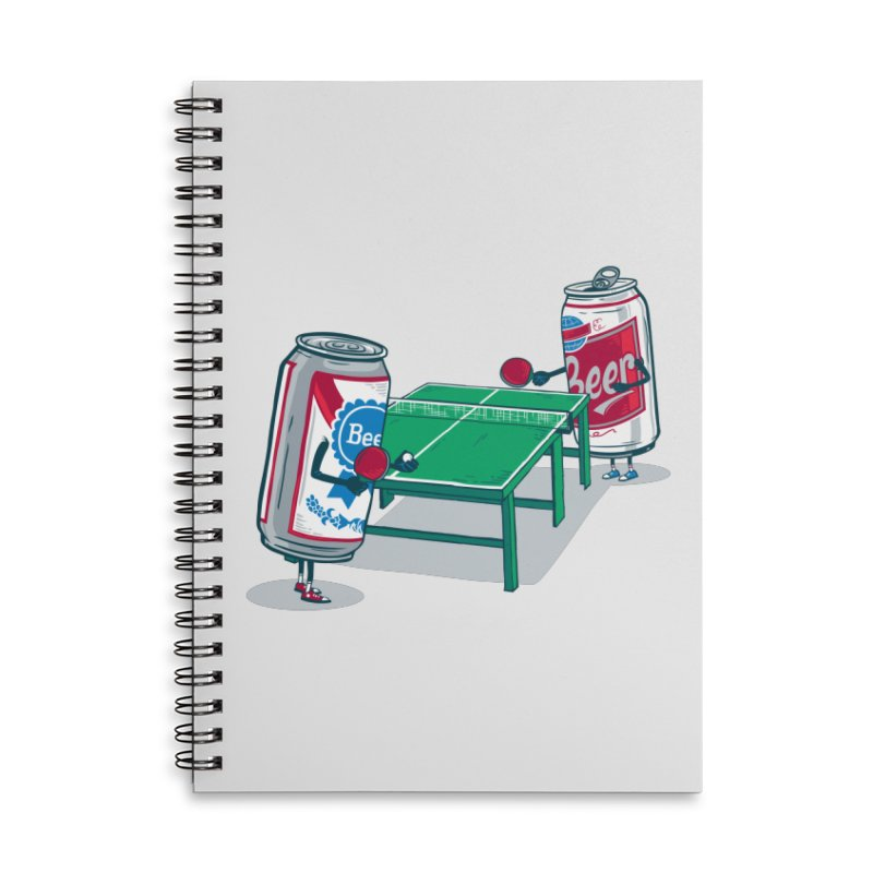 Beer Pong Accessories Lined Spiral Notebook by Ben Douglass