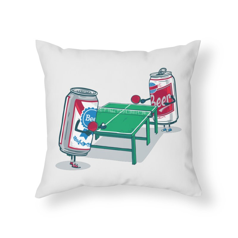 Beer Pong Home Throw Pillow by Ben Douglass