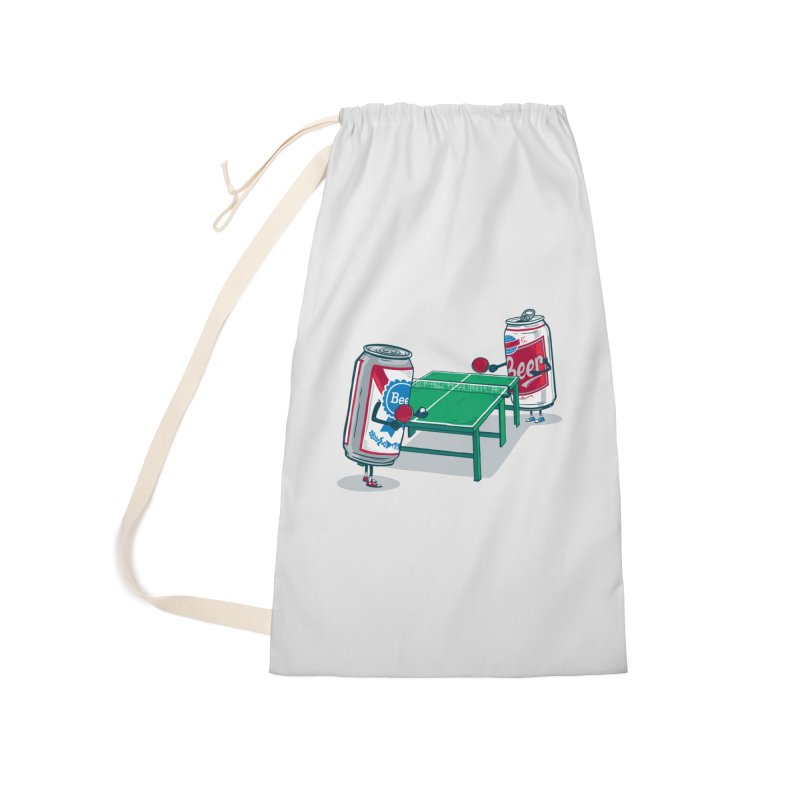 Beer Pong Accessories Laundry Bag Bag by Ben Douglass