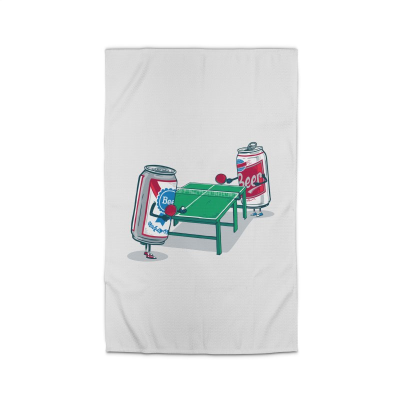 Beer Pong Home Rug by Ben Douglass